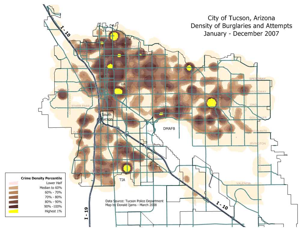 burglary density map